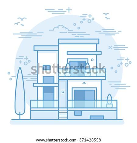 House icon vector illustration - stock vector