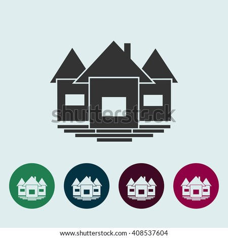 House Icon Vector Illustration. Real estate Illustration. Home icon picture. - stock vector