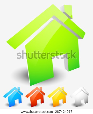 House icons. Home, house, residential building, homepage icons. Vector graphics.