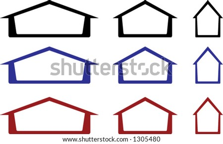 House Icons or Real Estate Logos - stock vector