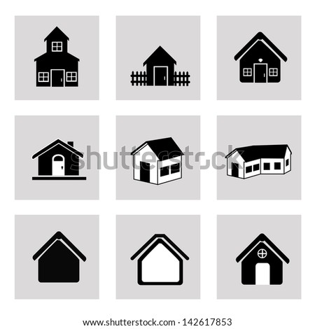 house icons over  white background vector illustration