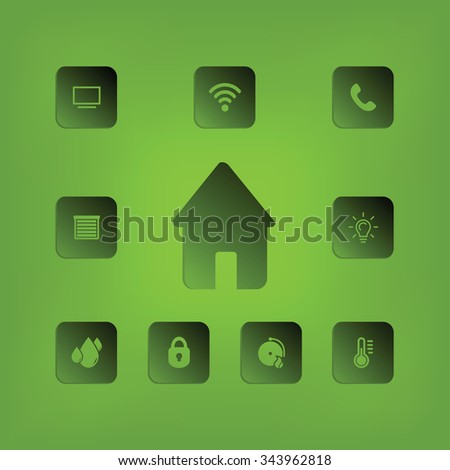 House illustration - stock vector