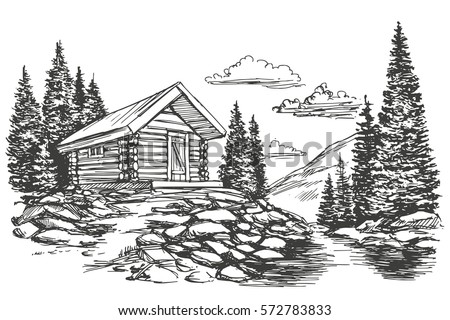 House At The Edge Of Woods Coloring Page