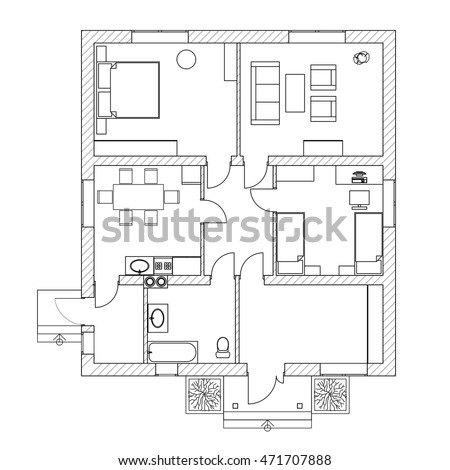 Floorplan stock images royalty free images vectors for How to make a floor plan of your house