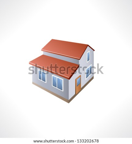 House Isometric Building. - stock vector