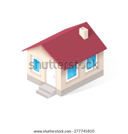 House isometric vector icon - stock vector