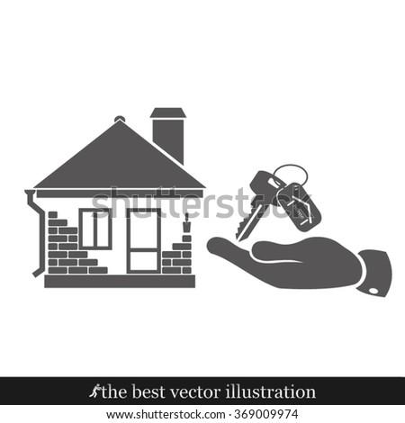 house key hand - stock vector