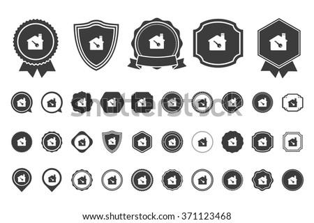 house key   icon - stock vector