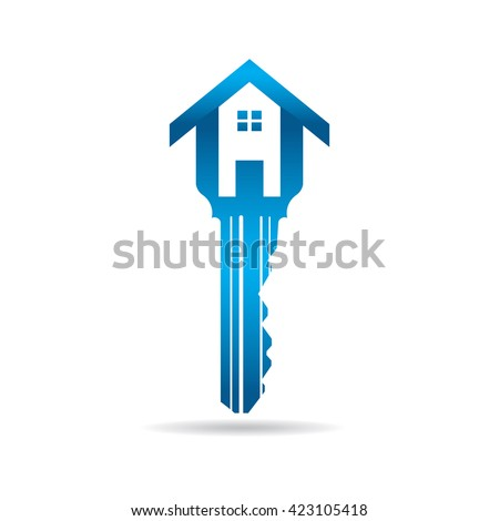 house key logo vector graphic design