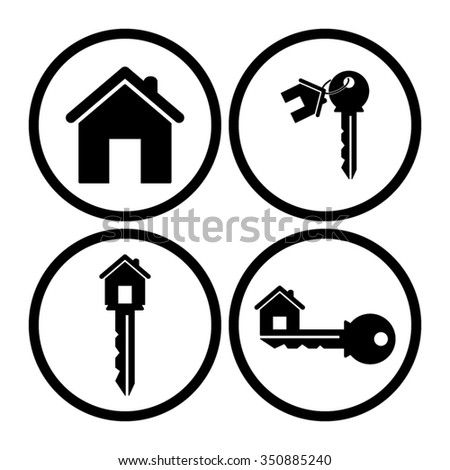 House Key Vector Icon Set Stock 365759741