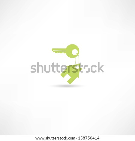 house keychain icon - stock vector