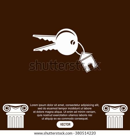 House keys vector icon. - stock vector