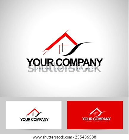 House Logo Design. Architecture Concept with business card template.Real Estate icon design. - stock vector