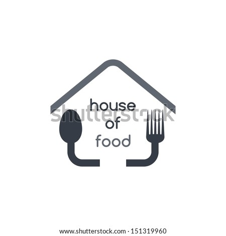 house of food theme - stock vector
