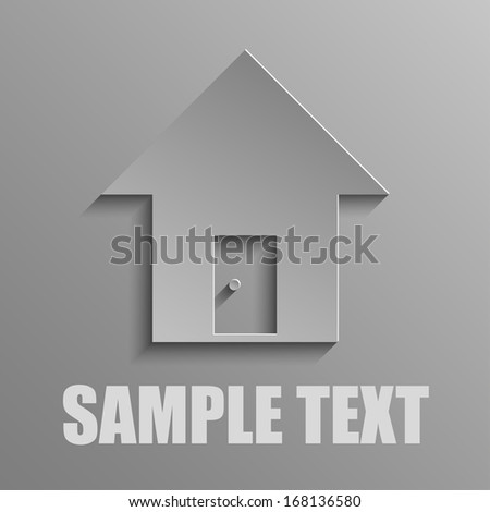 House on a gray background