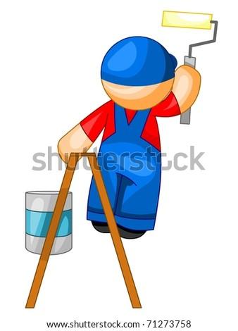 House painter icon. Vector version. - stock vector