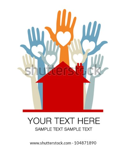 House party design with text space. - stock vector