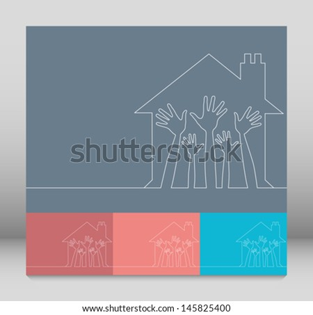 House party simple line illustration. - stock vector