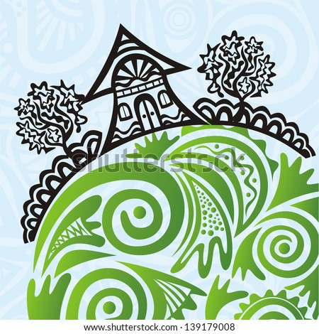 House pattern vector illustration - stock vector