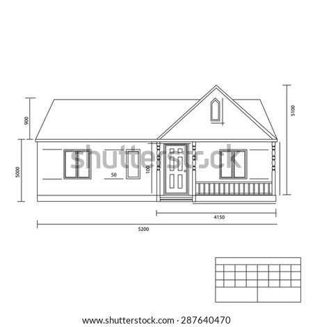 House Plan Vector Illustration Building Plans Stock Photo Photo