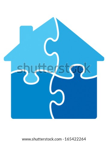House Puzzle - stock vector