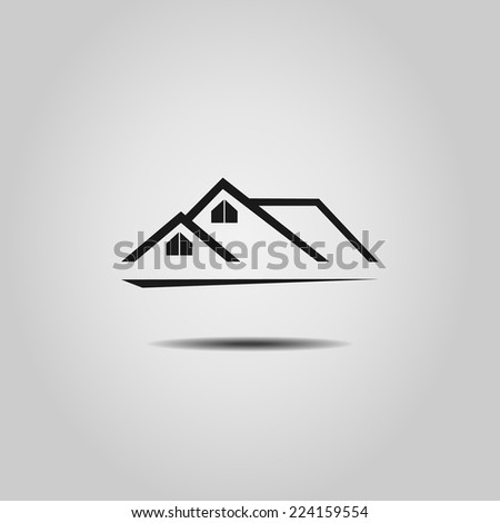 House  Real Estate  logo design  - stock vector