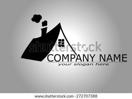 House Real Estate logo design - stock vector