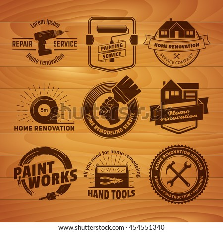 Home Remodeling Services Set Painting Paint Logo Stock Images Royaltyfree Images & Vectors  Shutterstock