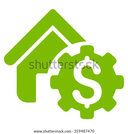 House Rent Options Icon - stock vector