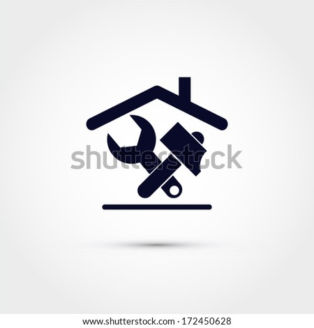 House repair icon - stock vector