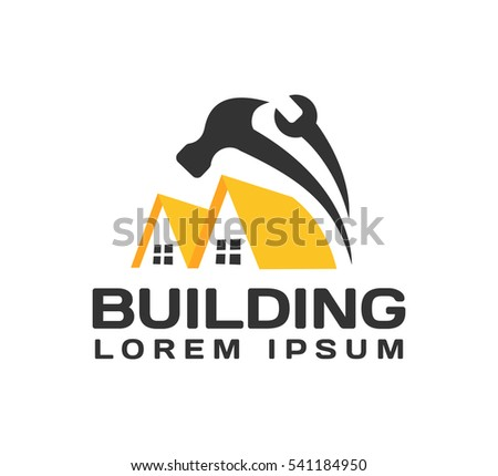 Home Improvement Icon. House Repair Logo. House, Real Estate, Construction,  Building Logo. House Vector