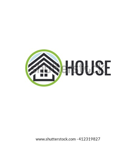 House roof isolated unusual logo.