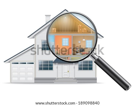 House Search - stock vector