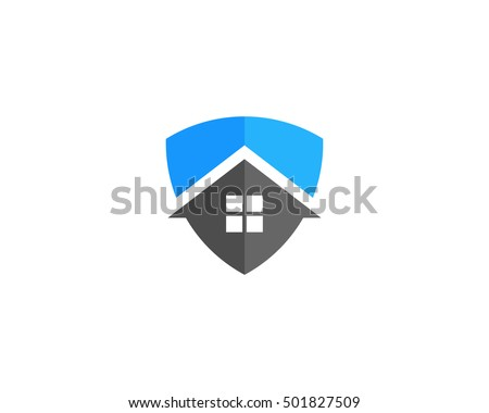 House Shield Home Security Logo Design Template