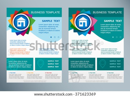 House Sign On Abstract Vector Flyer Stock Vector 371623369 ...