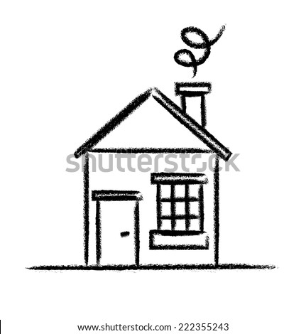 Simple house drawing stock images royalty free images for House sketches from photos