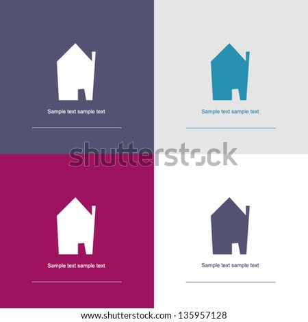 house symbol - corporate / real estate - stock vector