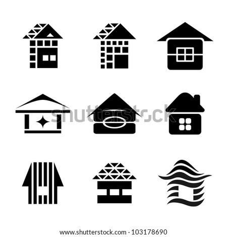 House symbols - stock vector