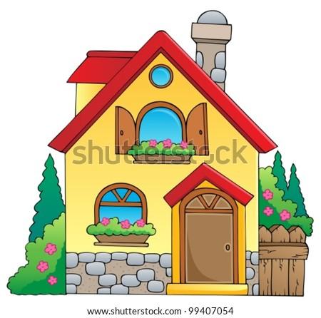 House theme image 1 vector illustration stock vector - Imagen de casas ...
