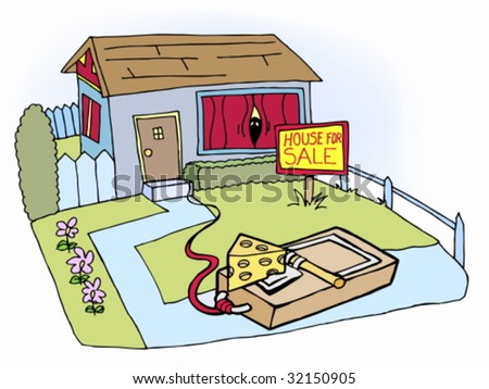 House trap stock vector 32150905 shutterstock house trap ccuart Images