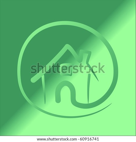 house vector - stock vector