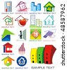 House vector Icons for Web. Construction or Real Estate concept. Abstract color element set of corporate templates. Just place your own name. Collection 6. - stock vector