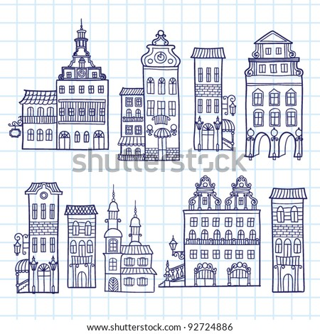 House vector set - stock vector
