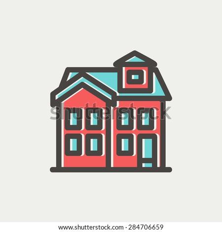 House Chimney Design house chimney icon thin line web stock vector 284706659 - shutterstock