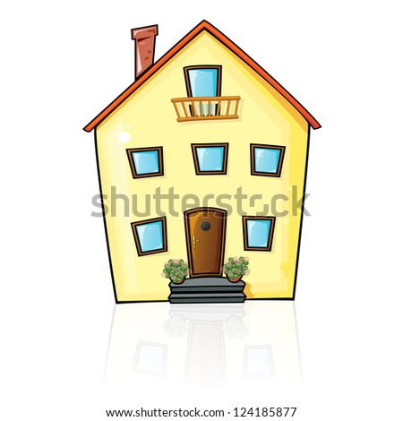House with reflection vector