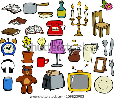 Household items stock images royalty free images for Household product design