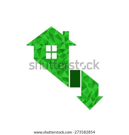 Household logo template. House icon - stock vector