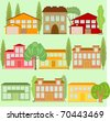 Houses - stock vector