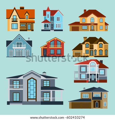 Apartment Building Illustration houses front face view vector illustration stock vector 597240479