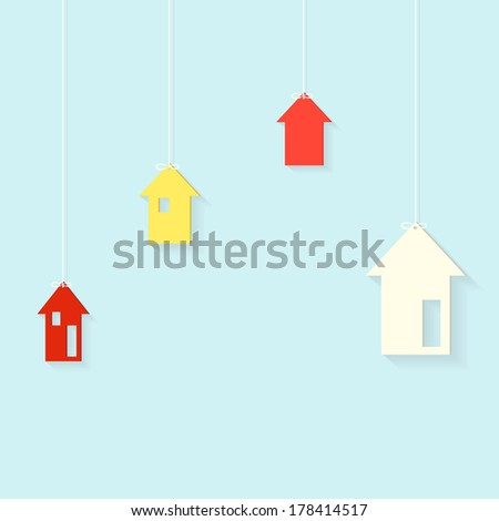 houses hanging on threads
